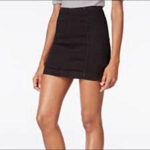 Free People Black Stretch Denim Modern Femme Skirt